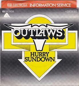 """Outlaws – Hurry Sundown , So Afraid 7"""" Single Vinyl - Marpingen, Deutschland - Outlaws – Hurry Sundown , So Afraid 7"""" Single Vinyl - Marpingen, Deutschland"""