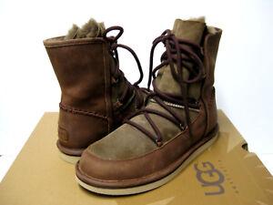 cf94f3e6220 Details about UGG LODGE WOMEN SHORT BOOTS SUEDE CHOCOLATE US 6 /UK 4.5 /EU  37 /JP 23