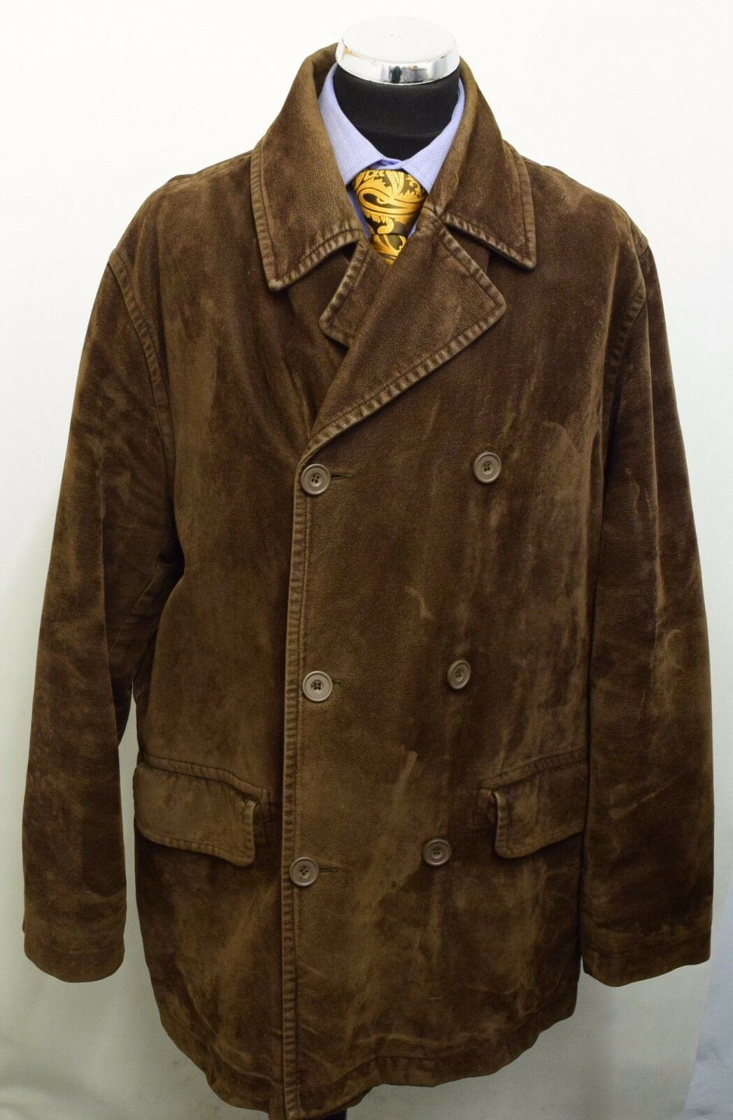 MS1189 RIVER ISLAND MEN'S BROWN COAT SIZE XL