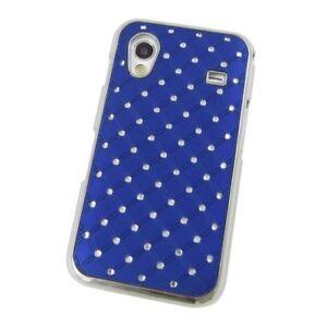 Hard-Case-Schutz-Hulle-zu-Samsung-Galaxy-Ace-BLING-STRASS-Blau-Hart-Schale