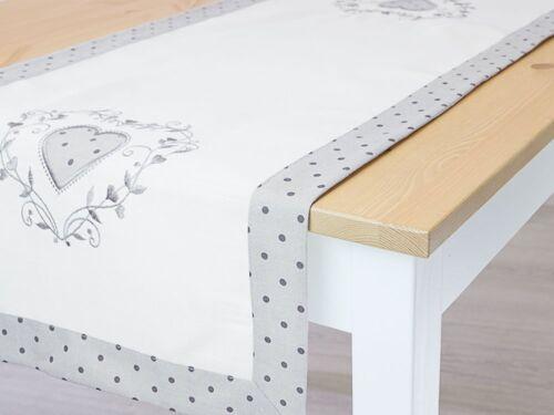 Lysel Tischdecken Verspielt weiß-hellgrau