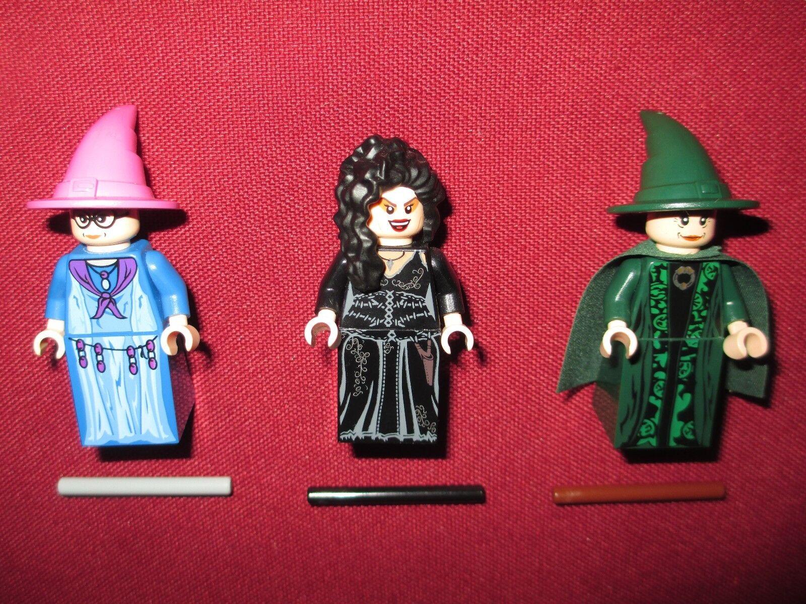 LEGO Harry Potter minifigures LOT TRELAWNEY,BELLATRIX,MCGONAGALL