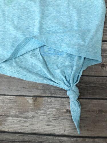 S XL M Kids Girls TMNT Teenage Mutant Ninja Turtles Aqua Blue Shirt Top XS L