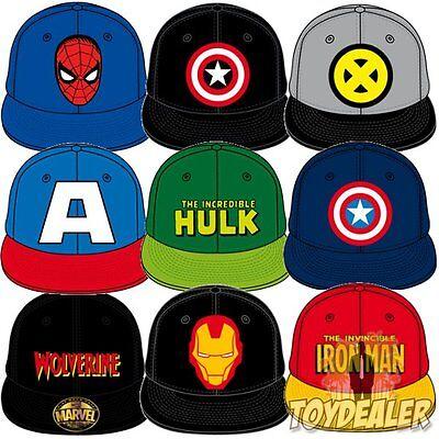 Marvel Comic Caps Logo Cap Superhelden Baseball Hip Hop Kappe Mütze Snapback #1