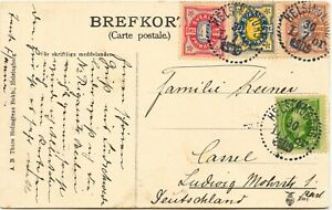 SCHWEDEN-1909-sehr-seltene-schoene-4-Farben-Frankatur-K1-034-Helsingborg-L-br-034-AK
