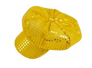Gold Sequin Disco Chapeau Gogo Girl Hat sixties seventies 60 s 70 s 1960 S 1970 S