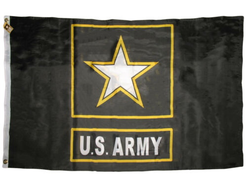 3X5 US Army Star Official Logo Double Sided 2ply Premium Flag Banner Grommets