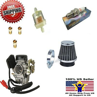 Carb Gy6 60cc Carburetor Moped Scooter Fit 50cc 49cc Scooter 19mm Taotao filter