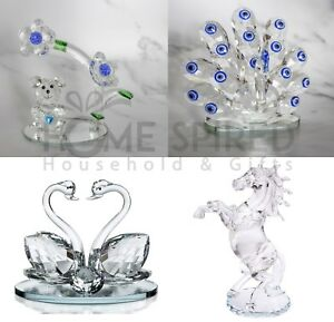 Clear-Crystal-Figurines-Paperweight-Animal-Collectible-Ornaments-Wedding-Gifts