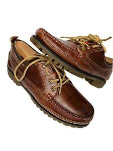 Sebago-Portland-Ranger-Wachsartig-Lug-Herren-Braun-Gum-Leder-Boot-Schuhe-9-5-M