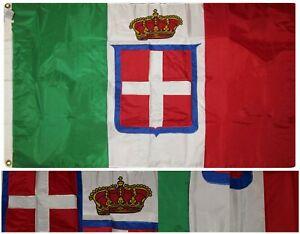 3x5 Brodé Royaume Italie Couronne Royale 300D Cousu Nylon Drapeau 0.9mx5 GACvxATG-07190806-122364535