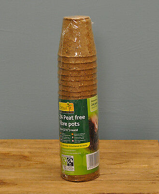Gardman 6cm Biodegradable Round Peat Free Seedling & Cuttings Plant Pots x 24