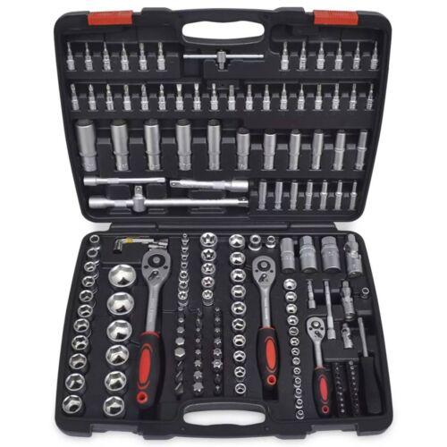 "193 pcs 1//4/"" 3//8/"" 1//2/"" Drive Socket Bit Set Ratchet Tool Storage Case Durable UK"