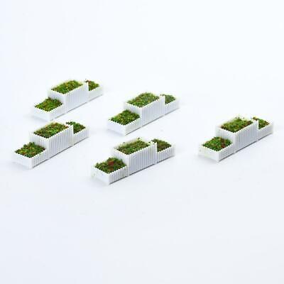 20 Pieces N 1//150 Flower Beds Model Set Parking Fairy Garden Dollhouse Accs