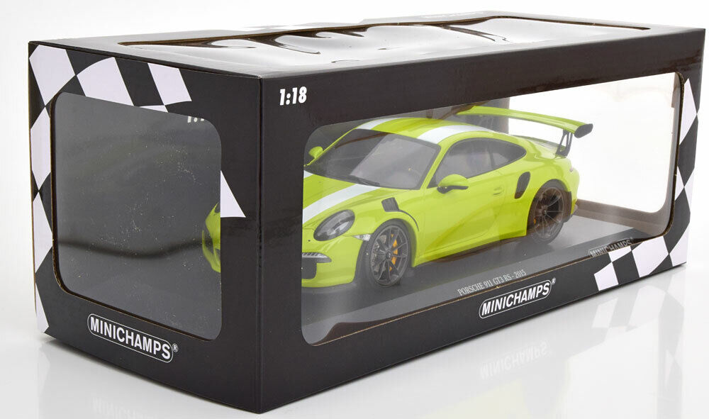PORSCHE 911 991 GT3 RS 2015 LIGHT verde MINICHAMPS 155066224 1 18 222 PIECES