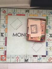 Item 3 Vintage Monopoly Popular Edition Game Set From 1951 With Board And Wooden Pieces