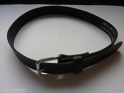 Qualità Ragazzi/bambini Nero Cinture In Pelle 45.7cm-61cm Girovita - Vendita Calda Di Prodotti