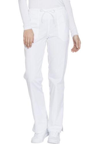 Scrubs Cherokee Workwear Mid Rise Straight Leg Pant WW130 WHTW White Free Ship
