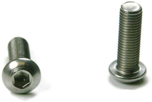 Button Head Socket Cap Screw Stainless Steel Screws UNC 1//4-20 x 1 Qty 100