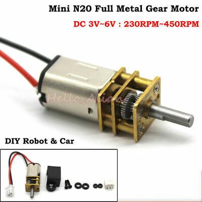 DC 3V~6V 5V 290RPM N20 Micro Full Metal Gearbox Gear Motor DIY Smart Car Robot