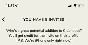 An Invitation to ClubHouse (The app) Clubhouse App Invite | eBay
