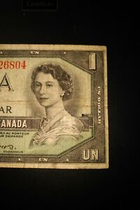1954-Devil-039-s-Face-1-Dollar-Bank-of-Canada-Banknote-CA1326804