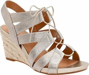 75f9c4a1ad3 Image is loading Clarks-Artisan-Acina-Chester-Wedge-Sandals-Gold-Metallic-