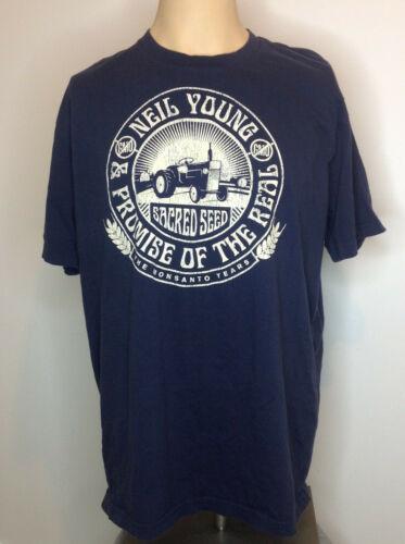 Neil Young Organic Cotton Tour T-Shirt XL Monsanto