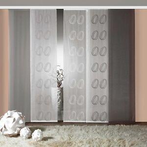 Schiebevorhang Flächenvorhang Gardine Raumteiler Vorhang Heraklit 4 Farben