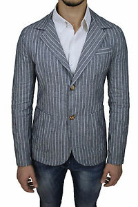 Xl Rayures À Made Moulant Homme Xs En In Diamond Fit Gris Veste Italy Slim B4wOYUqn0