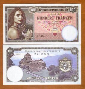 Liechtenstein-100-Francs-2018-Private-issue-Specimen-gt-Girl-with-flowers