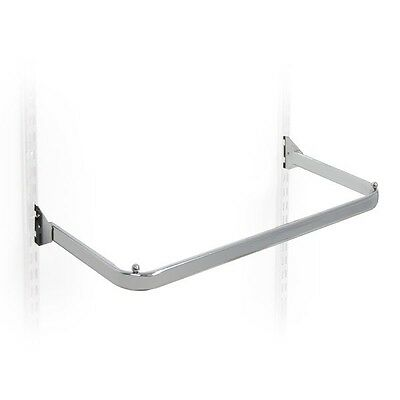 NEW D RAIL FOR TWIN SLOT UPRIGHT CLOTHES DISPLAY AND SHELVING FOR RETAIL DISPLAY