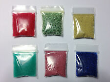 M00485 MOREZMORE 6 Pack 1-2 mm Assorted Glass Microbeads No Hole Micro Beads A60