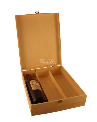 CASSETTA in legno naturale portabottiglie 3 posti vino