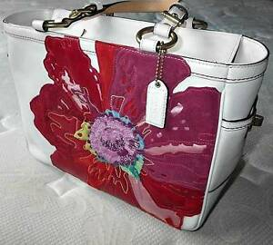 Image Is Loading Coach Ltd Ed Poppy For Peace White Leather