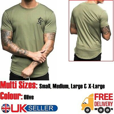 GYM KING mens designer t shirt crew short sleeve top tee black S M L XL new