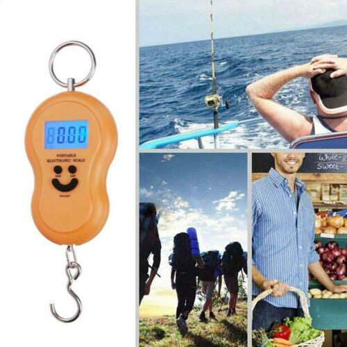 Small 50kg Digital Fish Scale Postal Hanging Hook Luggage LCD Mini Weight Z3J8