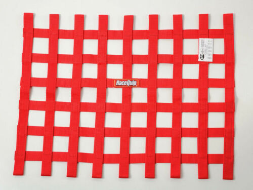 WINDOW NET 18X24 RED LOOP STYLE SFI 27.1SAFTEY  DRAG,IMCA,DIRT SIMPSON IMPACT