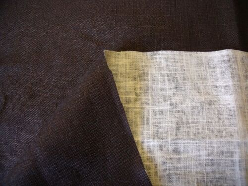 FASHION//CRAFT FABRIC-FREE P/&P NATURAL//BROWN REVERSABLE DYED COTTON// LINEN