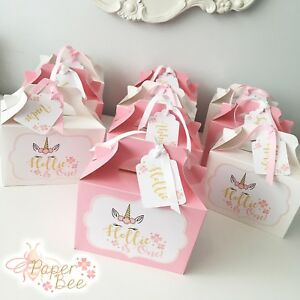 Image Is Loading Personalised Unicorn Party Box Lunch Favour Gift