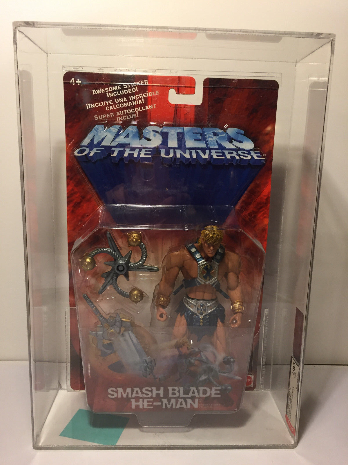 Masters of the Universe SMASH BLADE HE-MAN AFA RATED U85 LOOK