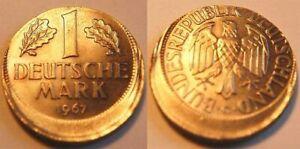Frg 1 Mark 1967G Lack Coinage: 20% Dezentriert. (50019)