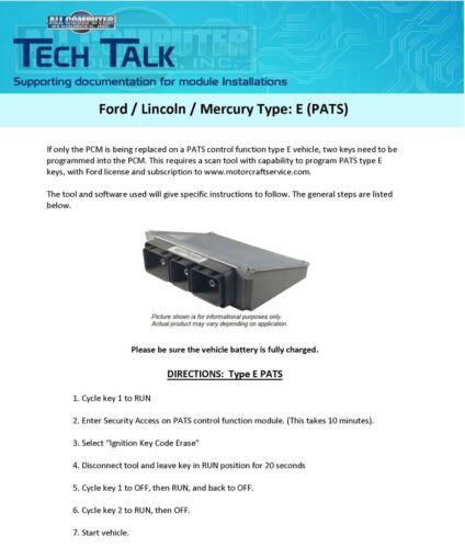 2008 Ford Escape 3.0L 8L8A-12A650-APB Computer ECM PCM ECU LBO-C55