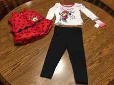 Disney Minnie Mouse Toddler Girl 3 Piece Long Sleeve Shirt Pant Vest 18 months