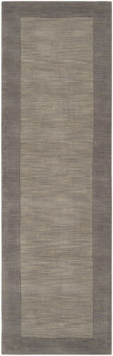 """Approx 2/' 6/"""" x 8/' Surya Gray 3 x 8 Wool Runner Contemporary Casual Area Rug"""