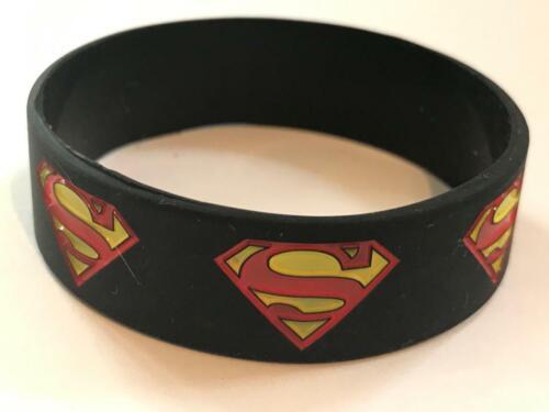 Fascia da polso Superman Nuovo Giocatore banda di gomma in Silicone Bianco Blu Braccialetto SUPER