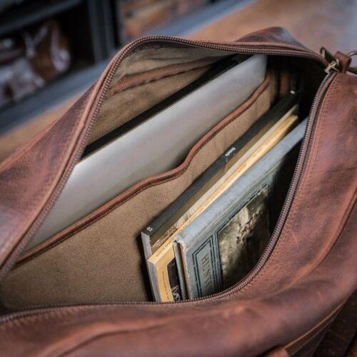 "Buffalo Leather Pilot Bag Briefcase Business 15/"" Laptop Flight Executive Luggage"