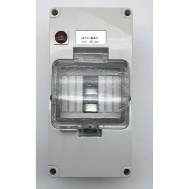 Weatherproof 4 Pole Enclosure Box Switchboard with Neon Light IP66