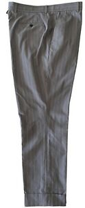 NEW-THOM-BROWNE-MEN-039-S-GRAY-PINSTRIPED-TROUSERS-5-695