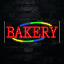 Bakery Led Flex Neon Sign For Retail Window Displays Energy Efficient